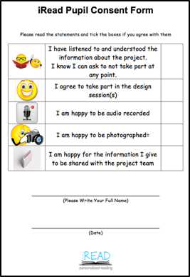 iRead Child Participant Consent Form