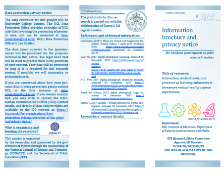 Information Brochure for child participants
