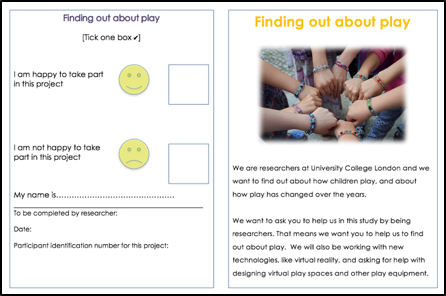 Information leaflet and consent form for children